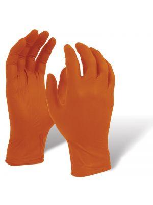 Orange Shield Heavy Duty Nitrile Glove with Diamond Grip