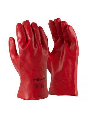 Red PVC Glove 27cm